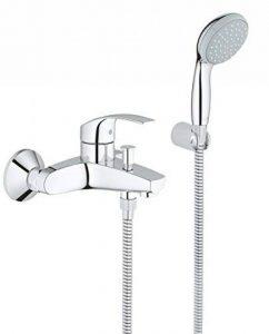 33302002 GROHE Eurosmart Robinet de baignoire avec pommeau de douche, tuyau et fixation murale de la marque GROHE image 0 produit