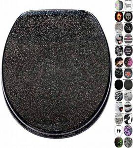 Abattant WC frein de chute soft close - Grande sélection de abattants wc noirs - Finition de haute qualité (Noir scintillant) de la marque Sanilo image 0 produit