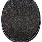 Abattant WC frein de chute soft close - Grande sélection de abattants wc noirs - Finition de haute qualité (Noir scintillant) de la marque Sanilo image 1 produit