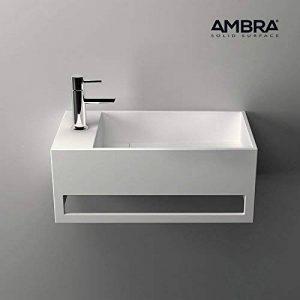 ambra Lave-Mains Suspendu, Vasque Rectangle en Solid Surface - Mona G de la marque ambra image 0 produit
