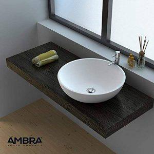ambra Vasque à Poser Ronde 40 cm en Solid Surface - Boléa de la marque ambra image 0 produit