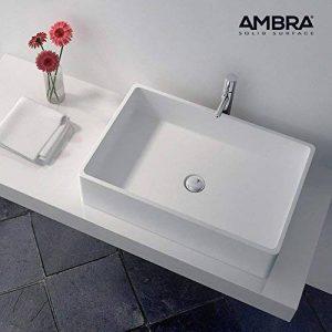 ambra Vasque rectangulaire 60 cm en Solid Surface - Opio de la marque ambra image 0 produit