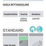 Ameublement baignoire bain rectangulaire maison marque Novellini Calos Standard avec châssis 150x 70160x 70170x 70170x 75170x 80180x 80H58cm 150160170180190200litres Lt carrée Acrylique réversible blanc brillant colonne échappement stru image 3 produit