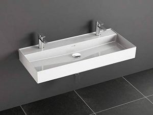 Aqua Bagno Loft Air Céramique Double lavabo lavabo double 100cm de la marque Aqua Bagno image 0 produit