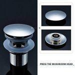 Auralum Chromé Zinc Bonde de Vidage avec Trop-Plein Push Open pour Pop-up évier Lavabo de la marque AuraLum image 2 produit