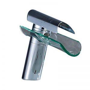 Auralum® Design nouveau Élégant robinet mitigeur cascade en chrome et verre lavabo de la marque AuraLum image 0 produit