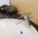 Auralum® Design nouveau Élégant robinet mitigeur cascade en chrome et verre lavabo de la marque AuraLum image 1 produit