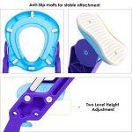 BAMNY Siège de Toilette Enfant Pliable et Réglable, Reducteur de Toilette Bébé avec Marches Larges, Lunette de Toilette Confortable Matériaux de Haute Qualité de la marque Bamny image 2 produit