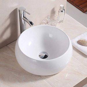 Basong Vasque à Poser en Céramique Moderne Lavabo Lave-Mains Salle de Bain WC Blanc (400×400×155mm) de la marque Basong image 0 produit
