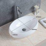 Basong Vasque à Poser En Céramique Moderne Lavabo Lave-Mains Salle de Bain WC Ovale Blanc de la marque Basong image 1 produit