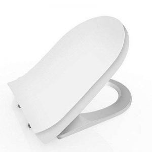 BATHWA Abattants de Toilettes/Couvercle de WC U / V / O Forme Surface Anti-Bactérien Résistante à La Décoloration avec Frein de Chute Réduction du Bruit(U) de la marque BATHWA image 0 produit
