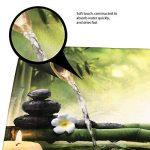 Bearbae Zen Garden Thème Décor View Design Japonais 16pièces Tapis de salle de bain de rideau de douche Ensemble de relaxation Bambous Bougies Tapis de bain contour Tapis pour abattant moisissures Résistent à rideau de douche et 12crochets de la marque image 4 produit