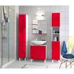 Berlioz créations Meuble avec Miroir, MDF, Rouge, 60x60cm de la marque Berlioz créations image 4 produit