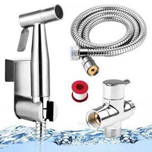 Bidet WC Douchette,YECO Toilette Bidet Spray hygiénique Pomme de douche Kits durites flexible,Kit Hygiène WC - Argent Brillant. de la marque YECO image 0 produit