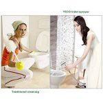 Bidet WC Douchette,YECO Toilette Bidet Spray hygiénique Pomme de douche Kits durites flexible,Kit Hygiène WC - Argent Brillant. de la marque YECO image 4 produit