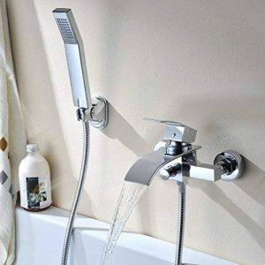 BONADE Robinet de baignoire en laiton cascade avec douche à main Salle de bains monté Douchette de la marque BONADE image 0 produit