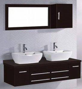 Concept Usine 2034.0 Hera Ensemble de Meubles/2 Vasques/1 Miroir salle de bain Wengé de la marque Concept-Usine image 0 produit