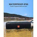 DOSS E-go II Enceinte Bluetooth Waterproof et Dustproof avec Audio 12W et Port de Charge USB pour Smartphones, Indice d'étanchéité IPX67, Résistance aux Chocs,Portée Bluetooth de 10m, 12 Heures d'Ecoute et Microphone Intégré.【Gris】 de la marque DOSS image 2 produit