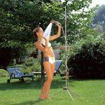 Douche de jardin trio de GARDENA: douche avec 2 types de jets (jet de douche/brouillard d'eau), quantité d'eau réglable, pommeau amovible avec tuyau de 1,3 m, trépied, réglage en hauteur (960-20) de la marque Gardena image 1 produit