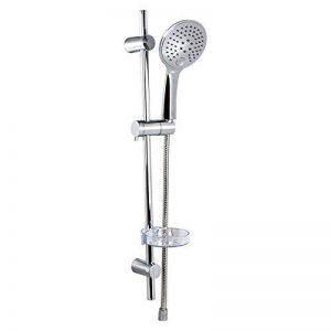 Dusar Douchette avec barre de douche ensemble de douche slim Neo 3Douche de tête de douche flexible de douche douche de tête de douche douche de tête Douche à main avec support et flexible de douche de la marque DUSAR image 0 produit
