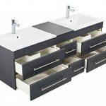 Emotion Meuble salle de bain double vasque Roma XL anthracite satiné de la marque Emotion image 3 produit