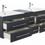 Emotion Meuble salle de bain double vasque Roma XL anthracite satiné de la marque Emotion image 4 produit