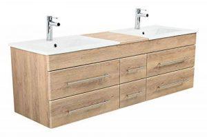 Emotion Meuble salle de bain double vasque Roma XL décor chêne de la marque Emotion image 0 produit