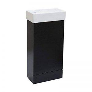 ENKI Horizon Meuble assemblé avec lavabo et Compartiment de Rangement à Poser au Sol Chêne Noir de la marque ENKI image 0 produit