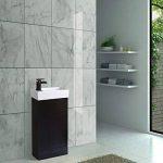 ENKI Horizon Meuble assemblé avec lavabo et Compartiment de Rangement à Poser au Sol Chêne Noir de la marque ENKI image 2 produit
