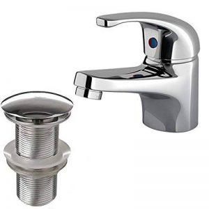 ENKI Mitigeur lave-mains de salle de bains Bonde à clapet sans trop-plein RUBY de la marque ENKI image 0 produit
