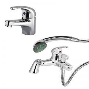 ENKI Mélangeur pour lavabo avec douchette pour baignoire moderne RUBY de la marque ENKI image 0 produit