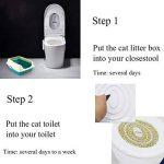 ETbotu Creative Plastique Litière Training Kit WC Plateau Pee formation Toilettes Pet Supplies de la marque ETbotu image 2 produit
