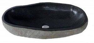 Exotica-import.Vasque lavabo à poser en pierre naturelle 50cm + bonde 8cm. Choix sur photos. de la marque exotica import image 0 produit