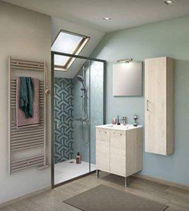 Experts du bain, Meuble de rangement salle de bain sur pieds, bois clair, simple vasque 60 cm de la marque Experts du Bain image 0 produit