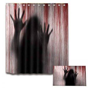 Foonee Rideau de Douche Halloween, Imperméable 3D Rideau De Douche Non Slip Tapis De Bain pour Salle De Bains Halloween Décor de la marque Foonee image 0 produit