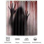 Foonee Rideau de Douche Halloween, Imperméable 3D Rideau De Douche Non Slip Tapis De Bain pour Salle De Bains Halloween Décor de la marque Foonee image 2 produit