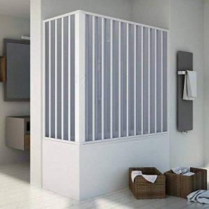Forte BR200001Paroi de baignoire angulaire, ajustable - Blanche - Dimensions : 70x 150–170cm ; hauteur de 150cm de la marque Forte image 0 produit