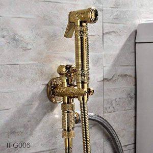 GFEI l'antique robinet bidet de cuivre cuivre à soupape toilettes / booster inlet angle pulvérisation trousse de la marque GFEI Les pommes de douche image 0 produit