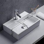 Gimify Vasque en Céramique Blanche Moderne Lavabo Salle de Bain pour Hotel Maison Bureau de la marque Gimify image 1 produit