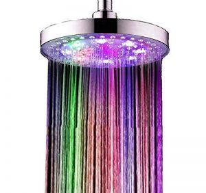 Grand pommeau de douche LED à 7 couleurs différentes d'environ 20 cm| Douchette économique et écologique multicolore STAR-LINE® pour hôtel ou maison de la marque niboline image 0 produit