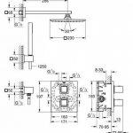 GROHE 34506000 Grohtherm Kit de Douche Encastré Cube 230 (Import Allemagne) de la marque GROHE image 1 produit