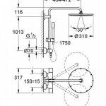 GROHE Colonne de Douche avec Mitigeur Thermostatique Rainshower System 310 27966000 (Import Allemagne) de la marque GROHE image 1 produit