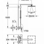Grohe Euphoria System - Système de douche rectangulaire avec thermostat carré 230mm Réf. 26087000 de la marque GROHE image 1 produit