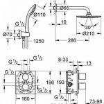 GROHE Kit de Douche Encastré Grohtherm 3000 34408000 (Import Allemagne) de la marque GROHE image 1 produit