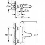 GROHE Mitigeur Thermostatique Bain/Douche Grohtherm 1000 34155003 (Import Allemagne) de la marque GROHE image 1 produit