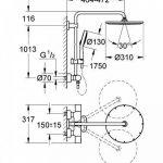 GROHE Système de Douche avec Mitigeur Thermostatique 27968000 Rainshower System 310 (Import Allemagne) de la marque GROHE image 1 produit