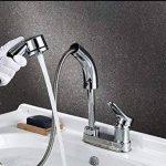 Hansdmoena Type Traction Double vasque lavabo bassin trou robinet télescopique de levage,robinet d'entrée d'envoyer 100 cm de la marque HansdMoena image 2 produit