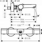 Hansgrohe Mitigeur Thermostatique de Baignoire Versostat 15348000 de la marque Hansgrohe image 2 produit