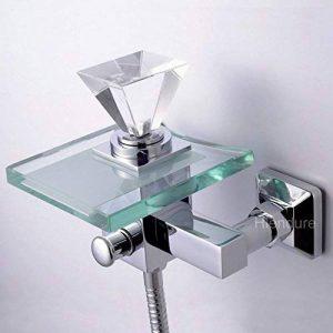 Hiendure® Mitigeur de baignoire contemporaine robinet de baignoire cascade mural, chromé de la marque Hiendure image 0 produit