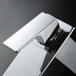 Homelody Robinet Mitigeur Lavabo Vasque Cascade Plié Carré Cuivre en Laiton Robinetterie Design Moderne Monotrou pour Cuisine Salle de bain -Bas de la marque Homelody image 2 produit